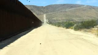 Driving Along the Border Fence, Jacumba CA