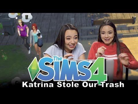 Sims 4: Katrina Stole our Trash! - Merrell Twins Ep1