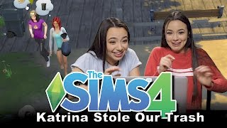Sims 4: Katrina Stole our Trash! - Merrell Twins Ep1