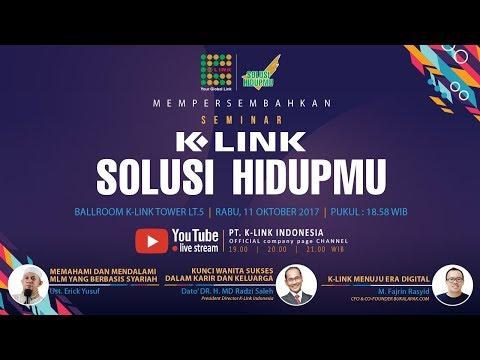 Live Stream Seminar K LINK Solusi Hidupmu