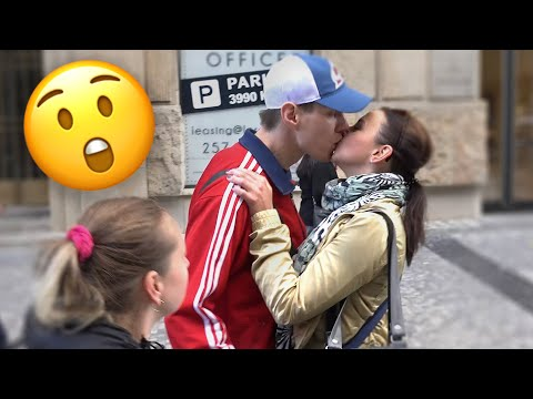 Girl Kissing Strangers in Public - Anything for Money 4