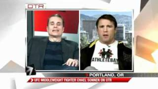 Worlds Most Confrontational Chael Sonnen Interview Ever!