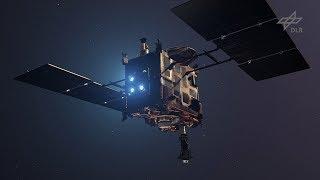 Animation: Asteroidenlander MASCOT auf Hayabusa2