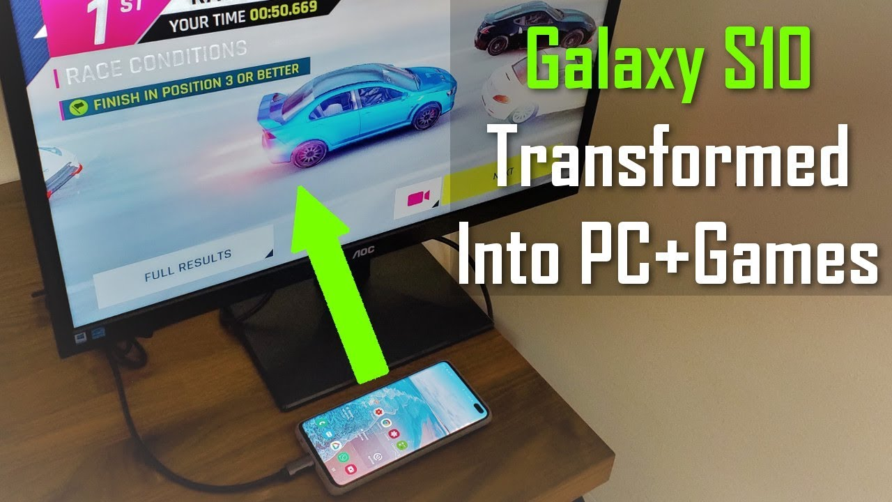 Transform your Samsung Galaxy S10 into a full Desktop PC & Play Games (via  Samsung Dex)