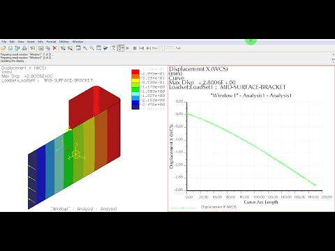 Pro E Mechanica Croe Simulate Tutorial Video | Mid Surface Shell FE Analysis | Beginner | GRS |