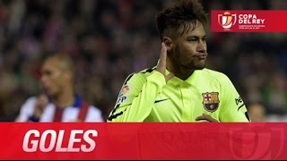 Todos los goles de Atlético de Madrid (2-3) FC Barcelona(Todos los goles de Atlético de Madrid (2-3) FC Barcelona SUSCRIBETE AL MEJOR CANAL HD La Liga | 28-01-2015 | J1 | Copa del Rey 2014/2015 Todos los ..., 2015-01-28T22:19:57.000Z)