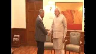 The Founder of Infosys N.R. Narayana Murthy calls on PM Modi