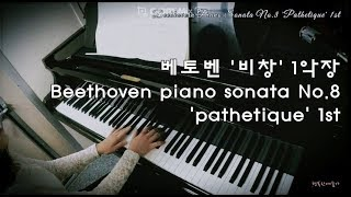 베토벤 비창 1악장/Beethoven piano sonata No.8