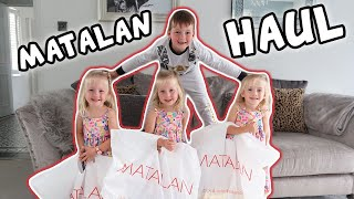 Matalan Haul | FASHION SHOW | 6 year old Boy, 3 year old Triplet Girls, 9 months old baby Boy