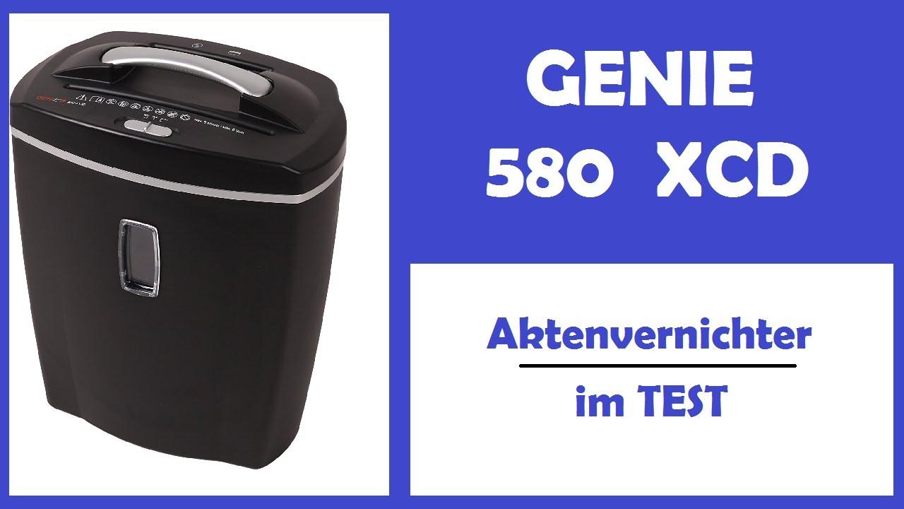 Genie 580X Bürotechnik Aktenvernichter Shredder Partikelschnitt Office schwarz