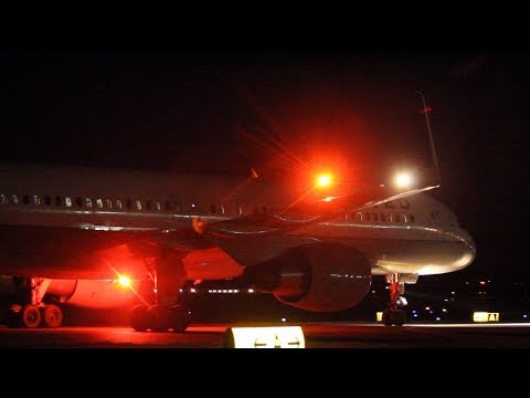 DIVERSION! United 757-200 arrival and VERY CLOSE taxi at Albany International airport