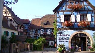 Eguisheim village d'Alsace classé plus beau village de France.