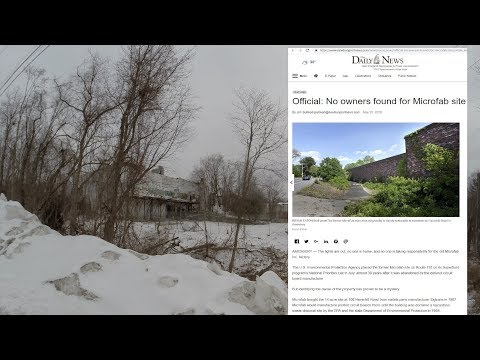 Abandoned EPA Superfund Site, Microfab, Inc.  Amesbury, MA 2/3/2019