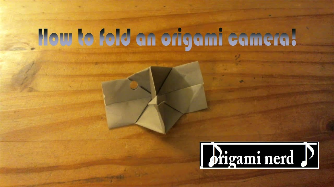 How To Fold An Origami Camera Easy