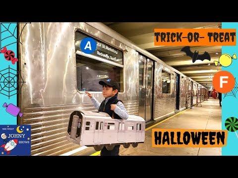 Johny's Halloween Wearing MTA Costume MTA Transit Museum & Subway Train Ride