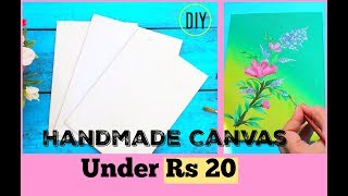 How to make  Handmade Canvas at home +( Mother's Day Special) One Stroke Flowers Painting Turorial