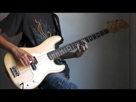 Iron Maiden - The Number Of The Beast (BASS cover with bass backing track!)
