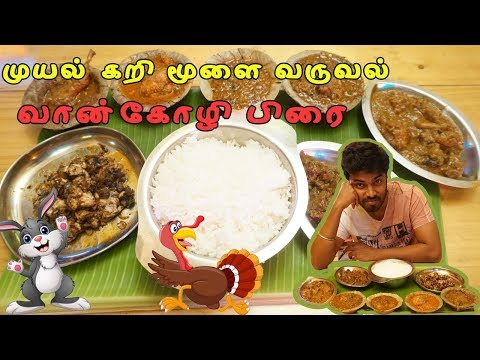 Rabbit fry -Brain fry - Turkey fry Semma feast at Chennai thokku kadai - Ramkannan vlogs
