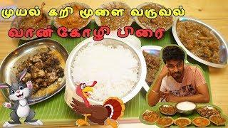 Rabbit fry -Brain fry - Turkey fry Semma feast at Chennai thokku kadai - Ramkannan vlogs