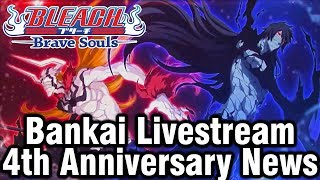 Bleach Brave Souls Bankai Livestream News for 4th Anniversary!