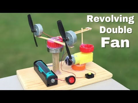 How to Make a Revolving Table Fan with Double Engine