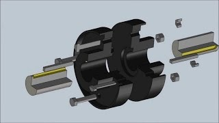 How to draw Flange Coupling Assembly- AutoCAD Tutorial