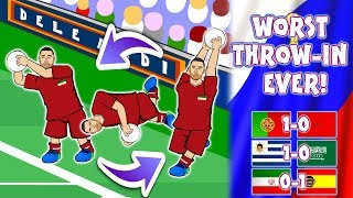 🤣WORST THROW-IN EVER!🤣 (World Cup 2018 Ronaldo Iran Spain Uruguay Saudi Arabia Portugal Morocco)