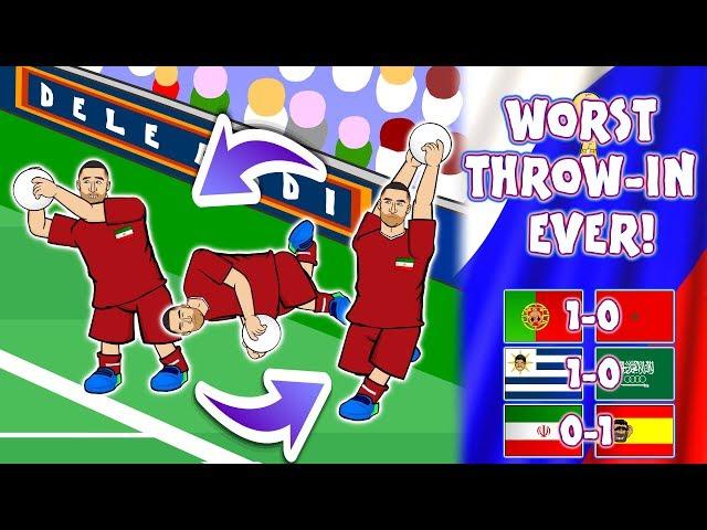 🤣WORST THROW-IN EVER!🤣 (World Cup 2018 Ronaldo Iran Spain Uruguay Saudi Arabia Portugal Morocco)