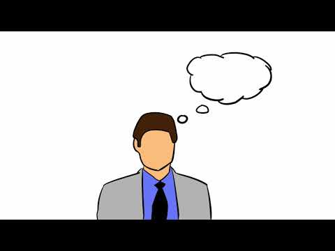 FREE STOCK VIDEO - Thinking Businessman [Sketchy animation for your projects]