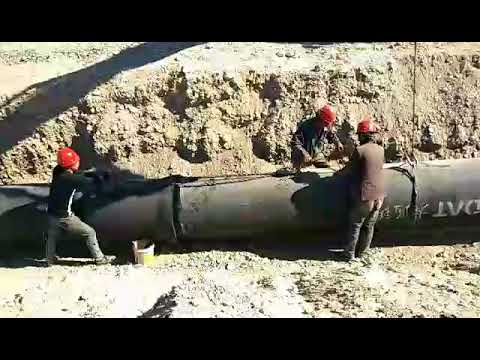 Installation of ductile iron pipe        datpipes@gmail.com