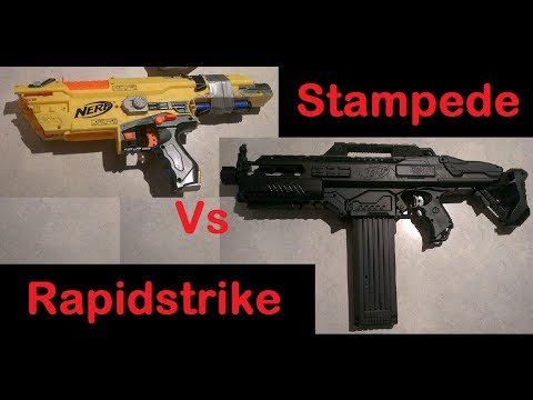 Modified Nerf Stampede Vs Modified Nerf Rapidstrike Youtube