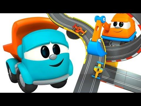 LEO JUNIOR baut eine Rennstrecke - Autos mit Fernsteuerung - 3D Animation für Kinder | Deutsch