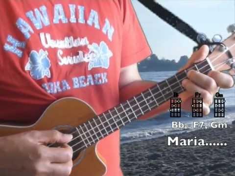 Ukulelevis:  Ave Maria, Ukulele Bar Chords, Lyrics,