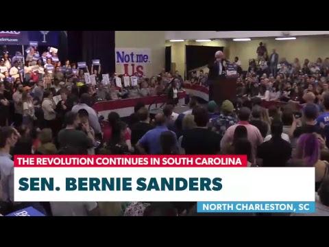 Bernie Rallies Supporters in South Carolina