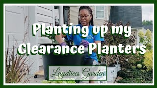 Planting up my Clearance Planters🌱|| Late Summer Planters|| Kreatyve Laydiiee