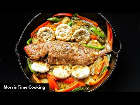 Jamaican Steamed Fish & Okra | FATHER'S DAY DINNER SPECIAL |  Lesson #116 | Morris Time Cooking