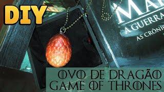 DIY: COMO FAZER PINGENTE OVO DE DRAGÃO GAME OF THRONES (Drogon's Eggs)