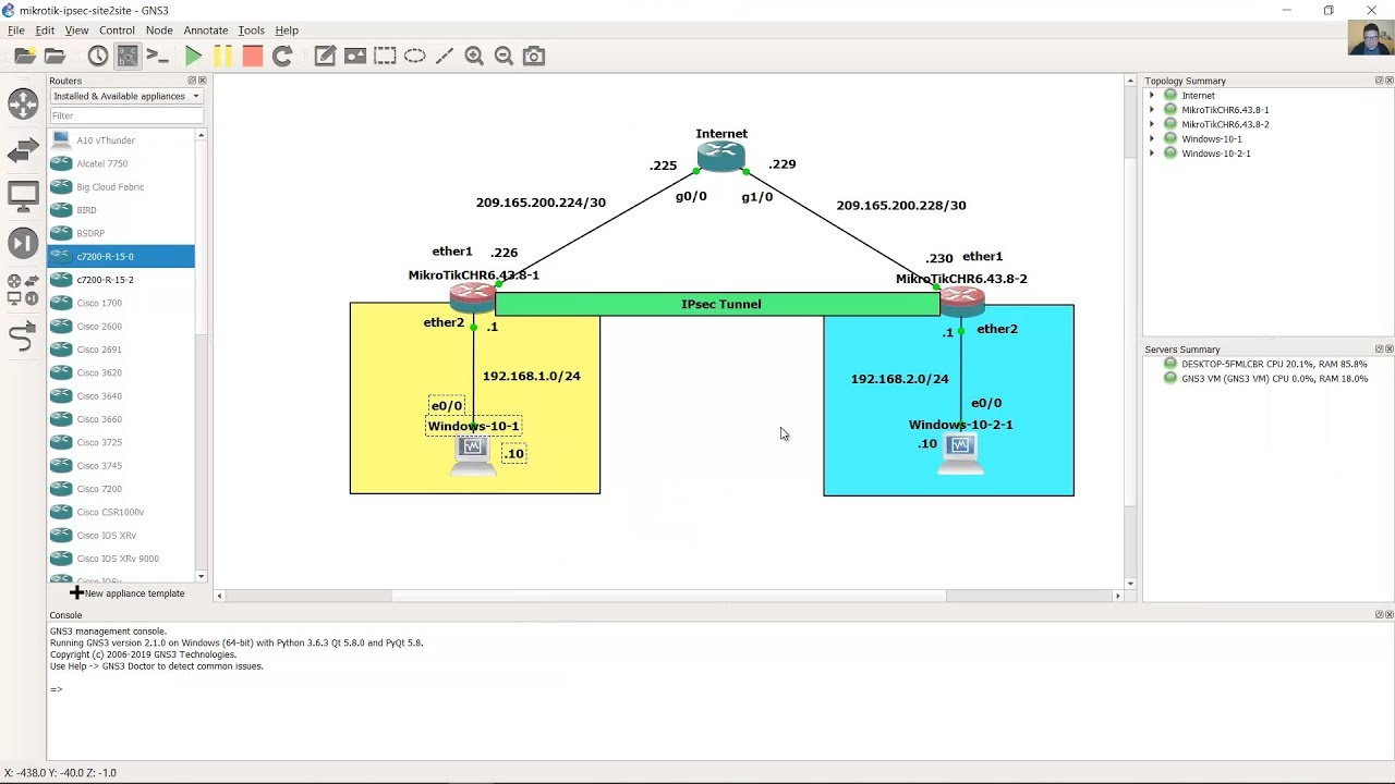 Site to Site IPsec IKEv2 Tunnel - MikroTik Routers
