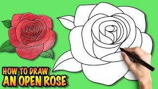 draw rose step drawing easy open steps roses drawings simple beginners tuturial way drawingartpedia flower sketch flowers getdrawings رسم doodle