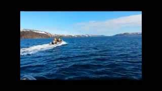 Мурманские морские рыбалки  Посейдон 520  2014(рыбалка, баренцево море, ура-губа, морская рыбалка, рыбалка в баренцево, кольский, мурманск, треска, ловля..., 2014-08-30T12:31:29.000Z)