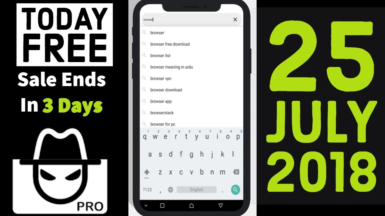 Private Browser Pro incongnito anonymous browsing (TODAY FREE)