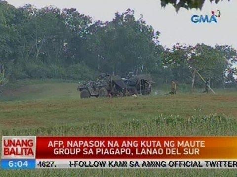 UB: AFP, napasok na ang kuta ng Maute group sa Piagapo, Lanao del Sur