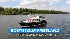 Tour mit dem Boot von Sneek (Friesland) nach Amsterdam und zurück