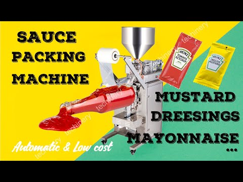 Ketchup Sauce Mustard Honey Packing Machine Liquid Vertical ...