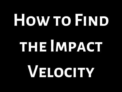 Calculus Impact Velocity