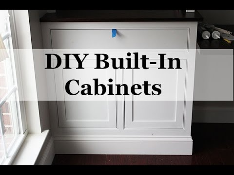 diy built in cabinets with beaded face frames youtube. Black Bedroom Furniture Sets. Home Design Ideas