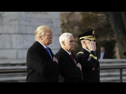 Trump Inauguration Begins With Visit to Arlington Cemetery
