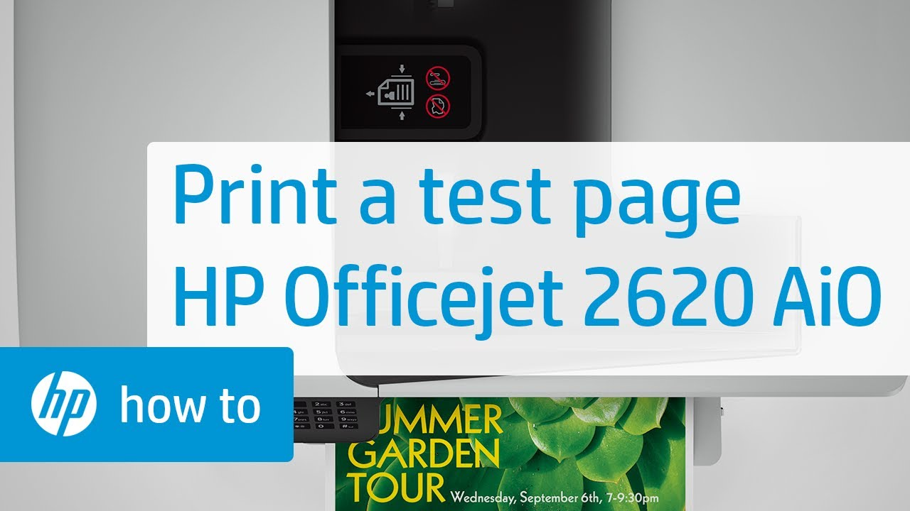 Printing A Test Page From The HP Officejet 2620 All In One