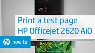 Printing a Test Page from the HP Officejet 2620 All-in-One Printer | HP Officejet | HP