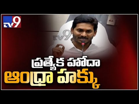 YS Jagan on AP Special status - TV9